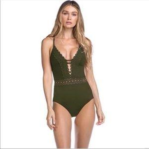 Becca Siren One-piece Swimsuit Bay Green